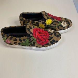 Steve Madden even leopard floral slip on sneaker 7